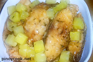 Fish fillets in kalamansi and pineapple sauce casa for Pineapple sauce for fish