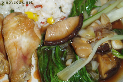Pechay and mushrooms stir fry - @ CASA Veneracion