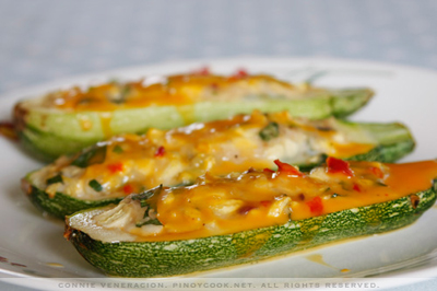 stuffed zucchini boats the skinny fork cheeseburger stuffed zucchini ...