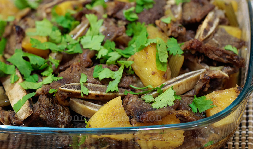 Beef, ginger and pineapple stew