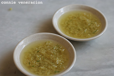 ginger garlic sauce for Chinese style steamed white chicken