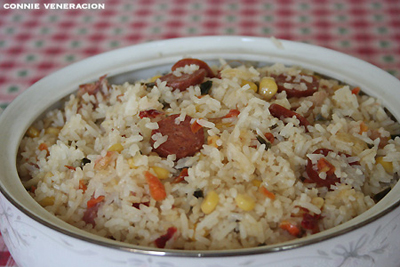 ham and chorizo fried rice