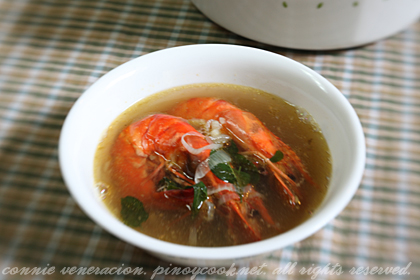 casaveneracion.com Prawns and ginger soup