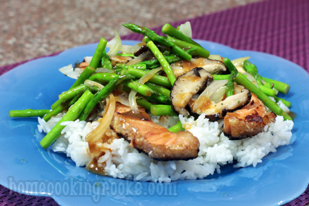 ... than ten minutes. You can make this stir fry while the salmon grills
