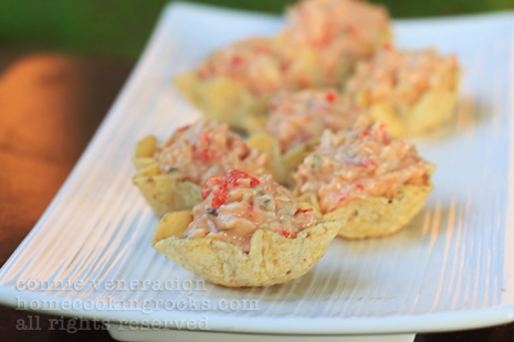casaveneracion.com Tuna and cheese pimiento canapés