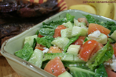 casaveneracion.com lettuce, cucumber, tomatoes and salted duck egg salad