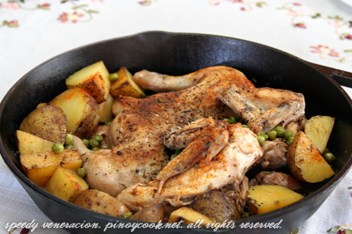 Old ranch style chicken and potatoes | CASA Veneracion