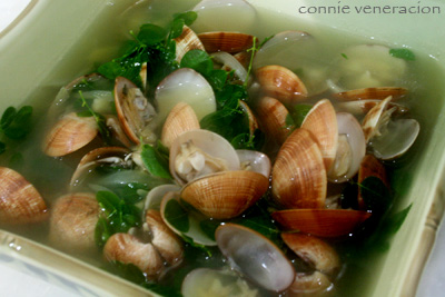 casaveneracion.com clams (halaan) and malunggay soup
