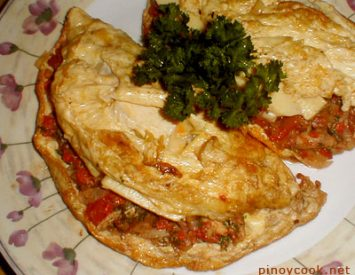 Anchovies omelet