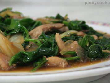 Chicken and spinach stir fry