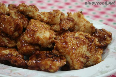 Fish fillets with hoisin sauce