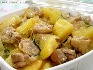 Chicken and potatoes in lemon-cream sauce