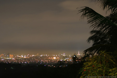 a view of metro manila from Vieux Chalet