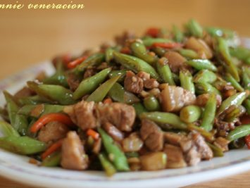 Pork and baguio beans with oyster sauce