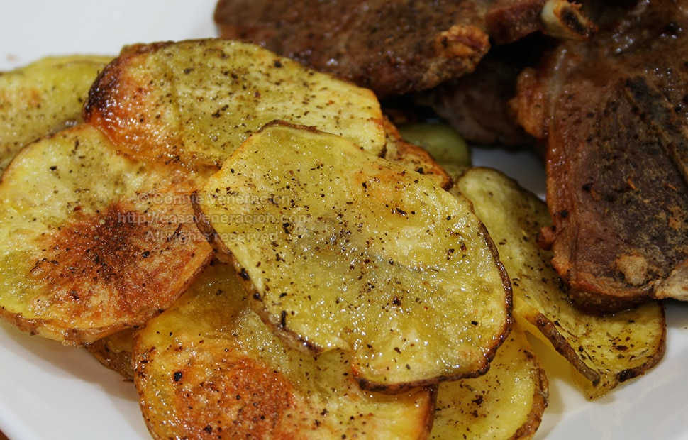 "Oven ""Fried"" Potato Chips 