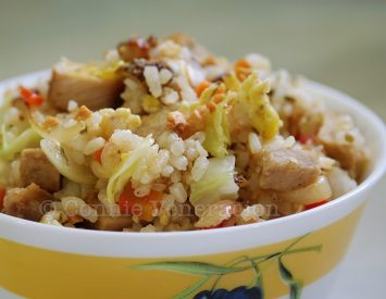 Roast Pork and Cabbage Fried Rice