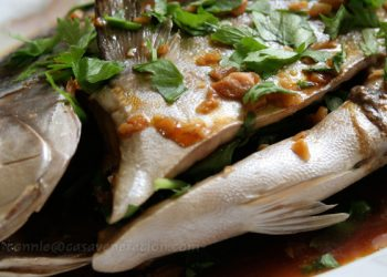 Mother's Day special for moms on a low-fat diet: steamed pompano with ginger sauce