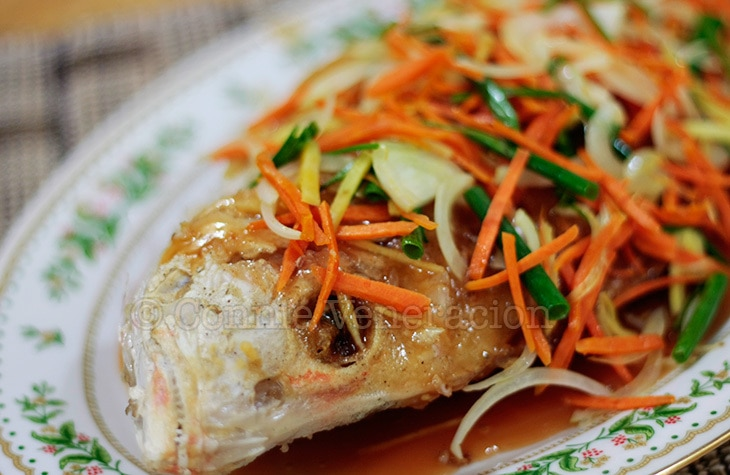 Sweet and sour fish: don't forget the ginger