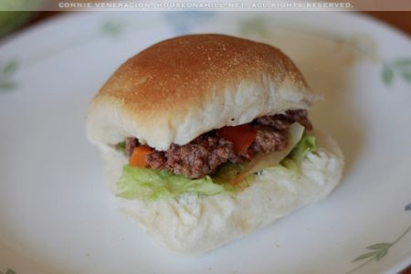 Pan de sal with ground beef stew