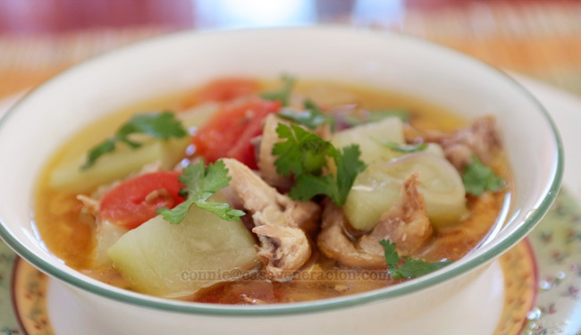 casaveneracion.com Chicken and upo (bottle gourd) soup