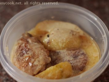 Chicken and potatoes with creamy cheese sauce
