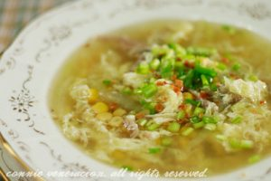 duck-corn-cabbage-egg-drop-soup