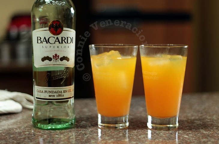 Orange, pineapple and rum cocktail | casaveneracion.com