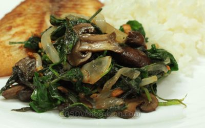 spinach-mushrooms