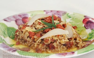 onion-sausage-risotto