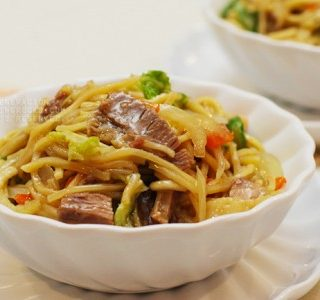 Pancit canton (a.k.a. lo mein or chow mein)