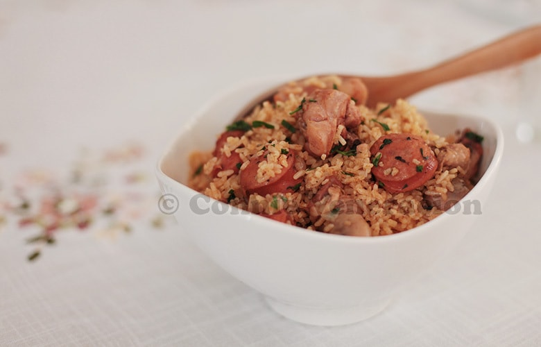 Jambalaya-inspired chicken and sausage rice | CASA Veneracion