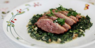roast-duck-creamed-spinach