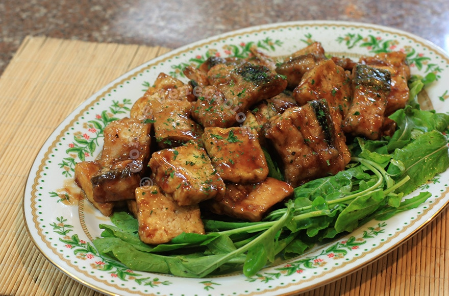 Tofu and bangus (milkfish) belly fillets with teriyaki sauce | CASA ...