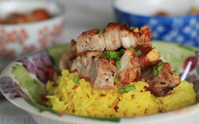pandan-rice-roast-pork-belly
