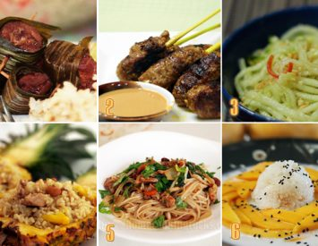 Holiday menu with Thai flavors