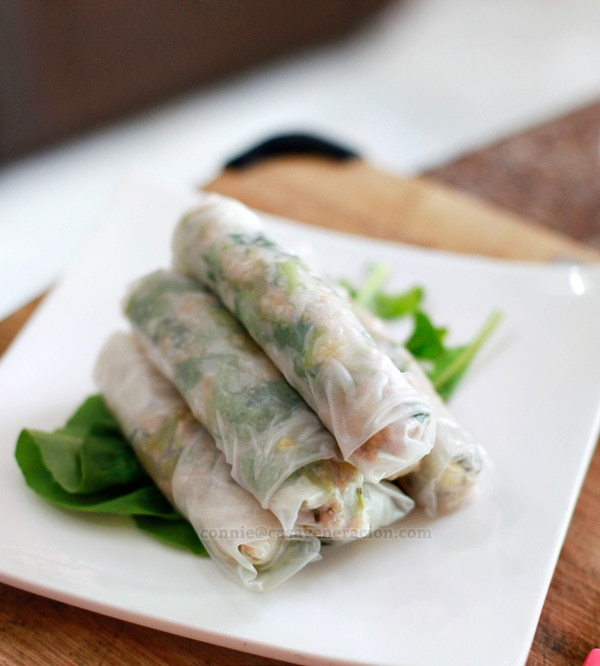 casaveneracion.com Sweet and tangy pork, water spinach (kangkong) and pineapple spring rolls