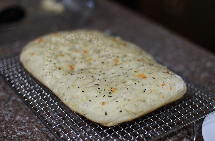 Basil and Garlic Focaccia