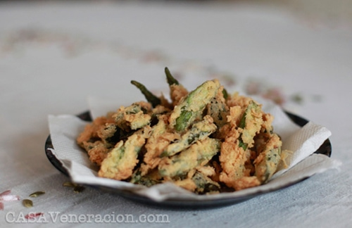 Fried breaded okra