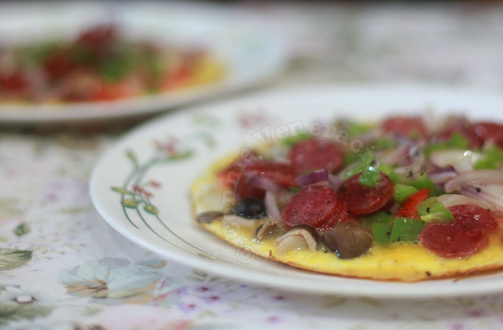 casaveneracion.com Chinese sausage and straw mushrooms omelet