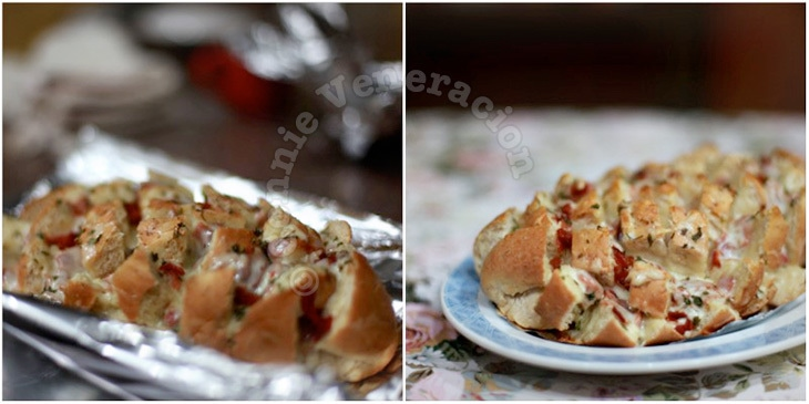 casaveneracion.com Blooming bread with cheese and bacon
