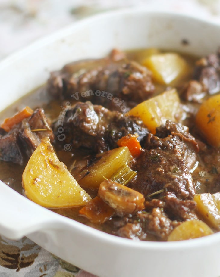 Beef stew with fruity red wine
