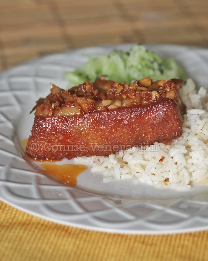 Pork with sambal sauce