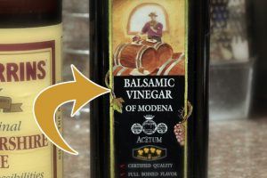 Balsamic vinegar: cooked, reduced and aged grape juice