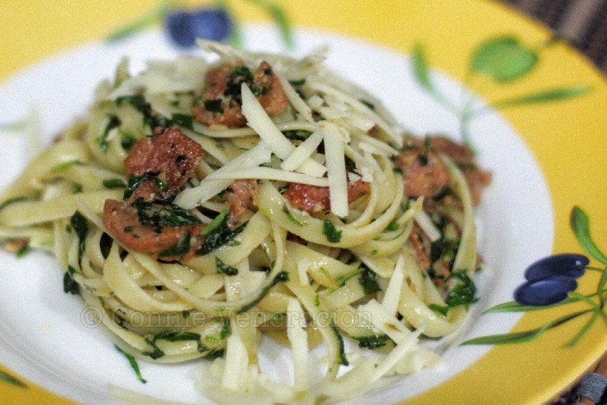 casaveneracion.com Pasta with sausage and spinach