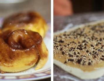 Sticky buns, 2 versions: simple and fancy