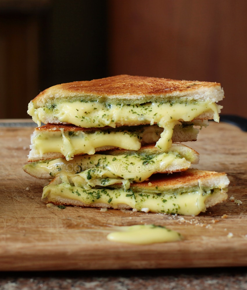 casaveneracion.com Grilled cheese and pesto sandwich