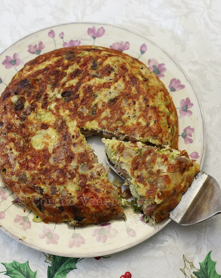 Pork and cabbage fritatta