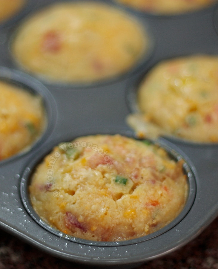 Bacon, cheese and pepper muffins | casaveneracion.com