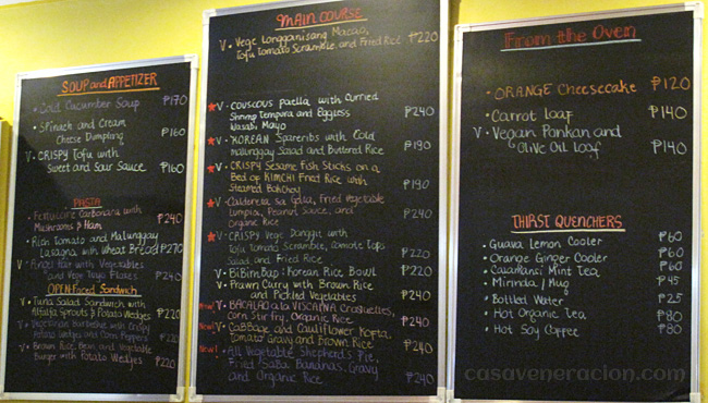 The Vegetarian Kitchen menu