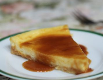 Salted caramel cheese tart